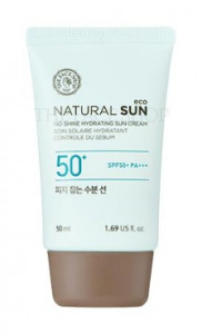 [Reseller] THE FACE SHOP Natural Sun Eco No Shine Hydrating Sun Cream SPF 50 PA+++ 50ml*8ea