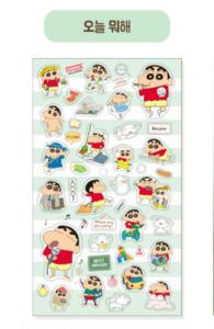 1300K Jjang-gu transparent sticker 6ea