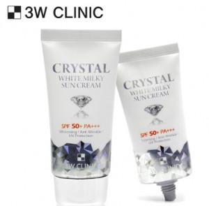 [SALE] 3W CLINIC Crystal White Milky Sun Cream SPF 50+/PA+++ 50ml