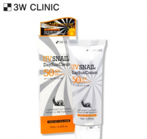 [SALE] 3W CLINIC UV Snail Day Sun Cream SPF 50+/PA+++ 70ml