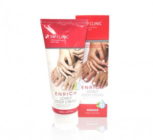 [SALE] 3W CLINIC Enrich Lovely Foot Cream 150ml