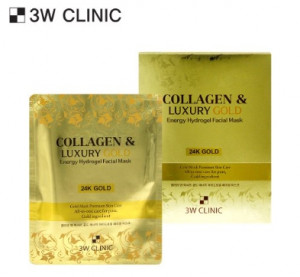 [SALE] 3W CLINIC Collagen & Luxury Gold Energy Hydrogel Facial Mask 30g*5ea