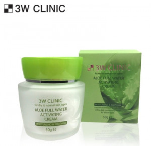 [SALE] 3W CLINIC Aloe Full Water Activating Cream 50g