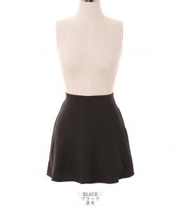 [R] ATTRANGS High Fabric Quality Lap-Detail Back-Banding A-Line Skirt 1ea